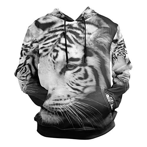 Siberian Tiger Sweatshirt - Unisex Hoodies Wildlife Siberian Tiger Animal Long Sleeve Sweatshirt Pullovers