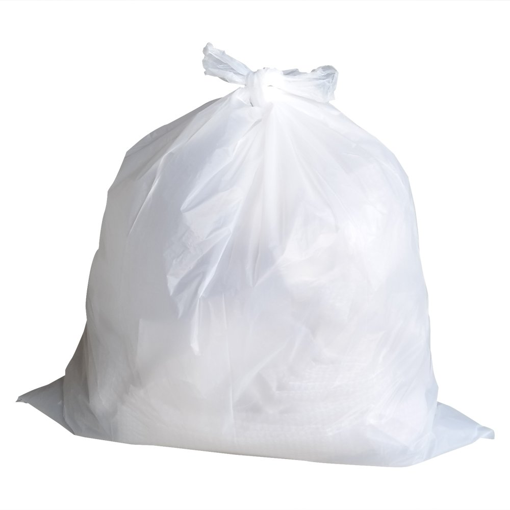Doryh 45 Gallon Large Trash Bags - 55 Counts, White