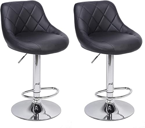 Backrest Design Bar Stools Counter Height Bar Stools Set of 2 Swivel Stool Barstools Height Adjustable Bar Chair