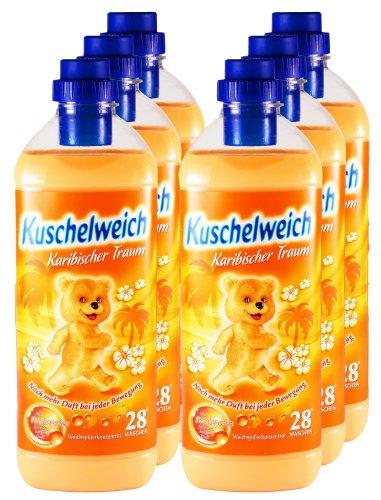 6er Vorteilspack Kuschelweich Weichspüler Karibischer Traum 6000 ml für 168 Anwendungen