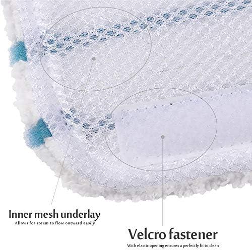 Fantisi 3 St/ück Waschbar Mikrofaser Pad 3 Gap Reinigungstuch f/ür Black /& Decker Steam Mop FSMP20 kompatibel FSM1610//1630 DampfvadRost