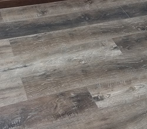 Turtle Bay Floors Waterproof Click WPC Flooring - Rustic Sawn Hardwood-Look Floating Floor - Choose From 2 Colors (SAMPLE, COTTAGE)