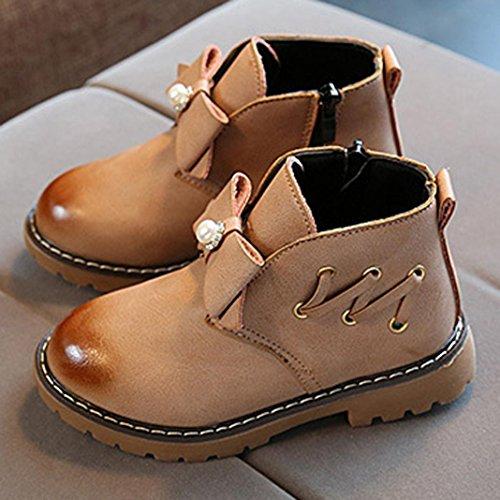 Huhu833 Kinder Mode Jungen Mädchen Martin Sneaker Winter Dicke Schnee Baby Freizeitschuhe Khaki -ohne Futter