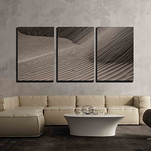 wall26 - 3 Piece Canvas Wall Art - Sand Dunes at Sunset in the Sahara in Morocco ( Hdr Image ) - Modern Home Decor Stretched and Framed Ready to Hang - 24''x36''x3 Panels by wall26