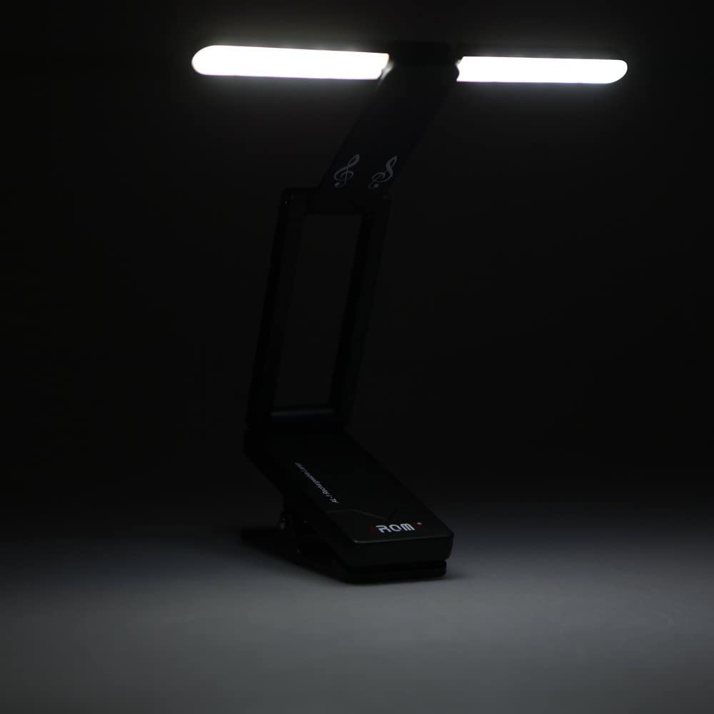 Aroma AL-1 Clip-on Rechargeable Music Stand Lamp for Piano LED Stage Light Universal Compact Portable USB Charge