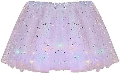 SUccess Falda de tul clásica Tutú Mujer estrellas lentejuelas ...