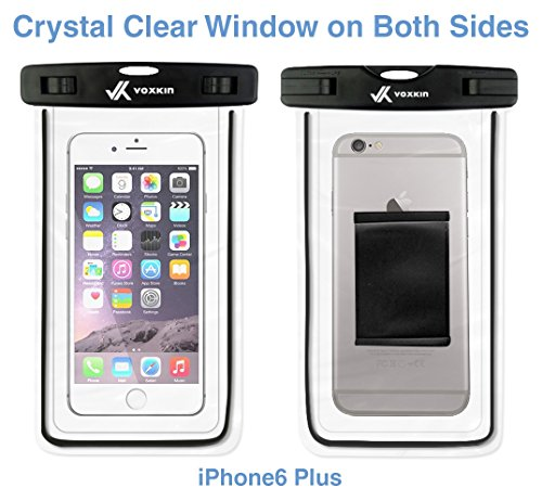 ⚡ [ Premium Quality ] Universal Waterproof Phone Holder with ARM Band & Lanyard - Best Grade Water Proof, Dustproof, Snowproof & Shockproof Pouch Bag Case for Apple iPhone, Android and All Smartphone by VK Voxkin (Image #5)
