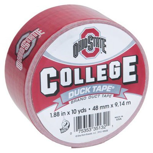 Duck Brand 281604 Ohio State University College Logo Duct Tape, 1.88-Inch by 10 Yards, Single - Office Supplies State Ohio