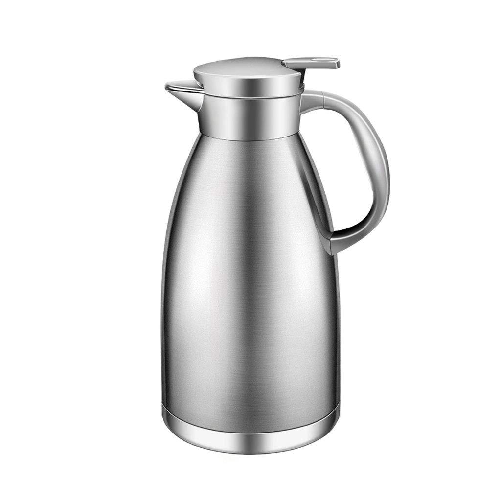 WLHW Trinkflaschen Vakuumkrug-Isolierungs-Topf, rostfreier Stahl 2.3L Kaffee-thermischer Karaffen-doppelter Wand-Saft-Milch-Tee-Topf