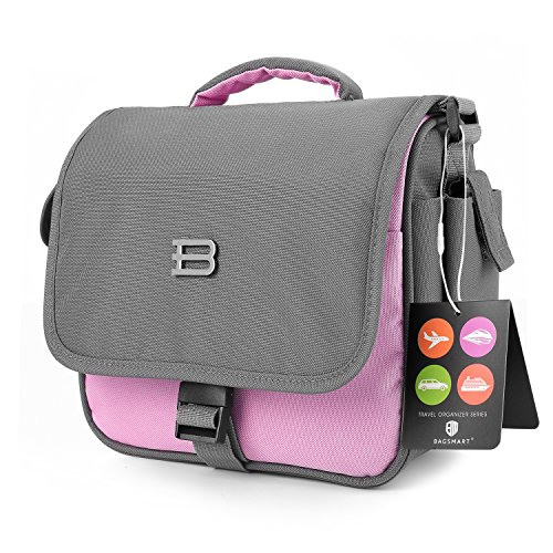 BAGSMART Digital SLR/DSLR Compact Camera Shoulder Bag, Travel SLR Gadget Bag, Pink