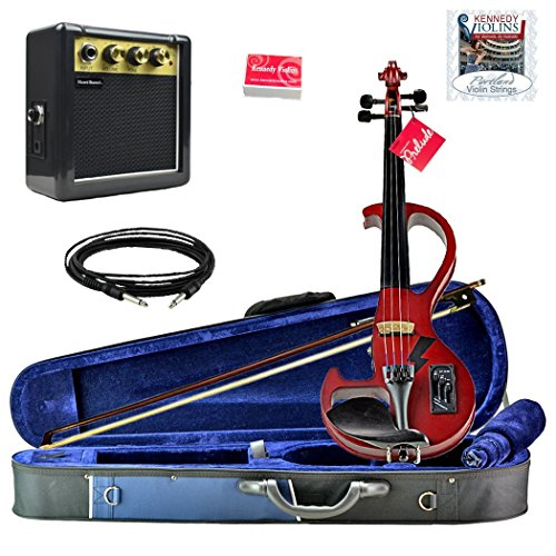 Bunnel Shredder Clearance Electric Violin (Rockstar Red) by Kennedy Violins