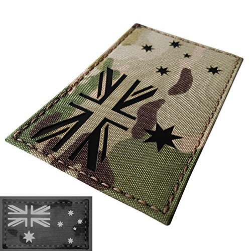 - Big 3x5 Multicam Infrared IR Australia Flag IFF Tactical Morale Hook-and-Loop Patch