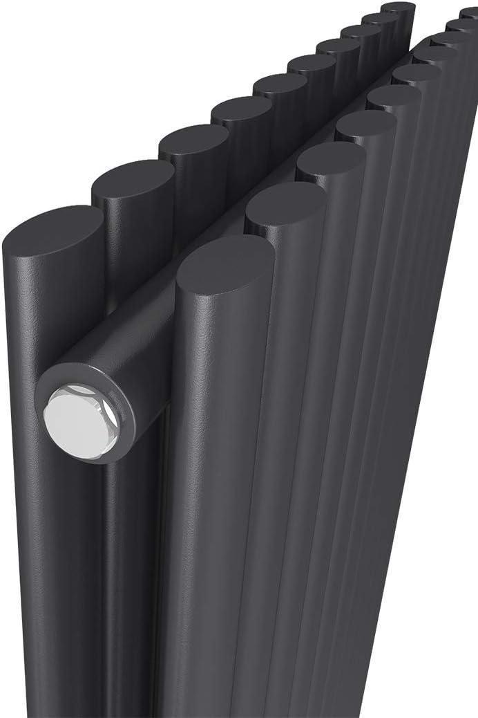 Meykoers Design-Heizk/örper Wei/ß Vertikal 1600x480mm Heizung Mittelanschluss Doppellagig