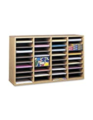 Safco Products 9424MO Wood Adjustable Literature Organizer, 3...