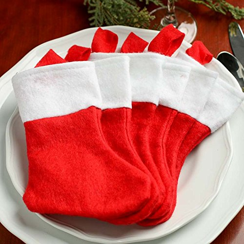 Factory Direct Craft Package of 24 Small Felt Christmas Stockings from