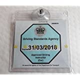 UNIVERSAL TICKET LICENSE PERMIT BADGE HOLDER REUSABLE HOLDER TRANSFERABLE NO GLUE AND THEREFORE NO RESIDUE FITS MANY INCLUDING NHS PARKING PERMIT