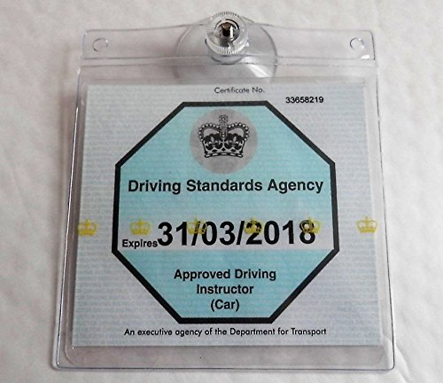 UNIVERSAL TICKET LICENSE PERMIT BADGE HOLDER REUSABLE HOLDER TRANSFERABLE NO GLUE AND THEREFORE NO RESIDUE FITS MANY INCLUDING NHS PARKING PERMIT BITS4REASONS