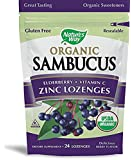 Natures Way Sambucus Organic Zinc Lozenges with Elderberry and Vitamin C, 24 Count (2 pack)
