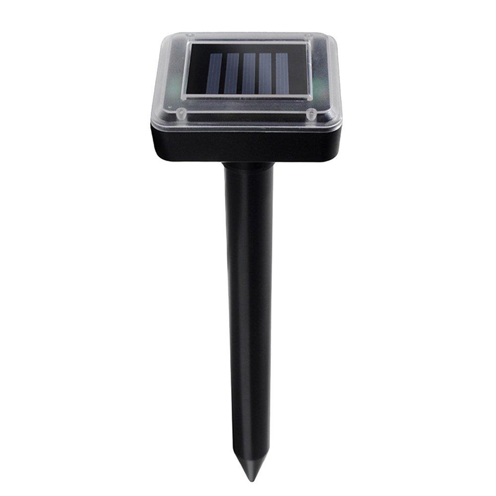 Cideros Ultrasonic Animal Repeller Pest Repeller Solar Powered Scare Away Vole Mole for Yard Garden Farm Park Orchard (2 pieces)