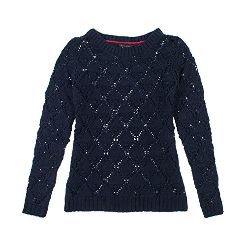 Tommy Hilfiger Womens Long Sleeve Knit Sweater L New Master (New Knit Sweaters)