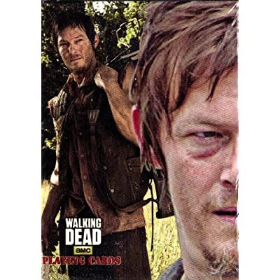 AMC The Walking Dead Playing Cards 2 Deck Set - Daryl Zombie Walkers & Daryl Zombie Survivors: Sports & Outdoors