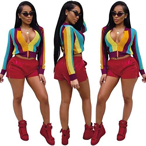 Autunno Outerwear Giaccone Cerniera Primaverile Chic Con Slim Colors Allentato Eleganti Fit Manica Cappotto Gelb Donna Ragazza Giacca Fashion Rainbow Lunga Corto xUzavwCv