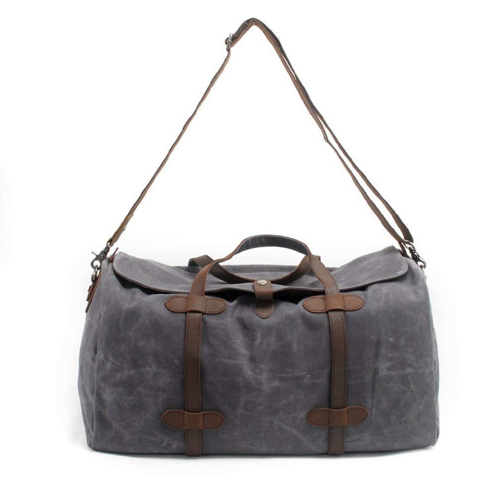 Travel Large Capacity Handbag Mens Waterproof Canvas Messenger Bag army green