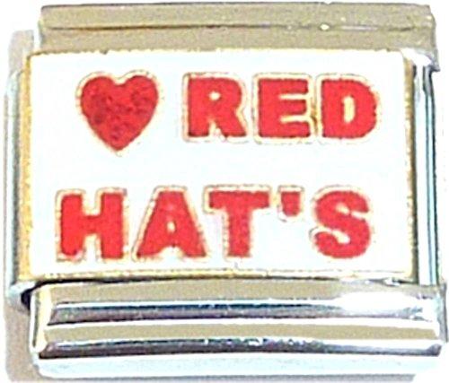 Red Hats Italian Charm