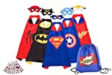 cool costume for kids - Awesome Superheros Capes, Masks, Stickers and Bag - Costumes and Dress-up for Kids