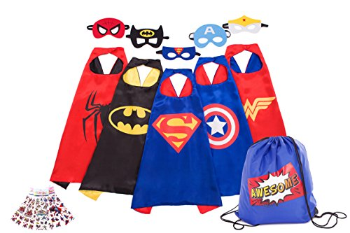 Awesome Superheros Capes, Masks, Stickers and Bag - Costumes and Dress-up for (Super Hero Costume Ideas)