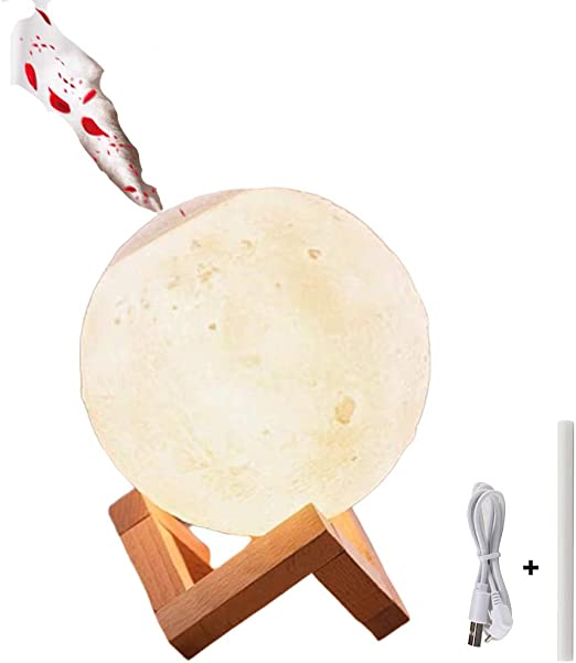 Konesky Lámpara de luna 3D, 880ML Humidificador de Aire Noche ...