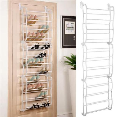 36 Pair Over The Door Hanging Shoe Rack Organizer Storage Closet Boot Stand New (Rack Door Show)