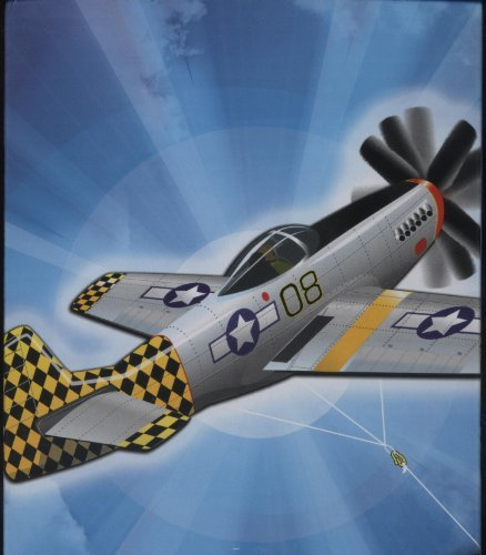 X-Kites Supersized P-51 3-D Kite - 50in Wingspan