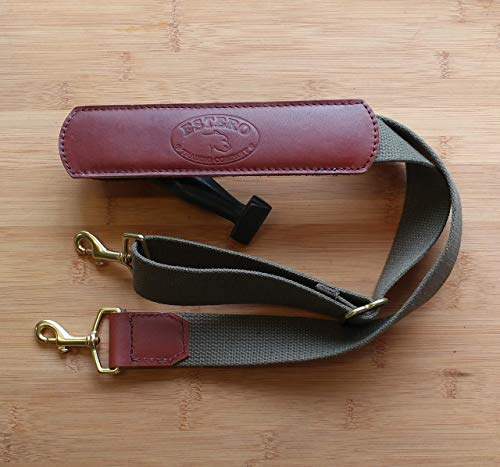 NEW !!! Adjustable Replacement shoulder strap.brown leather, heavyweight pure cotton 1&1/2