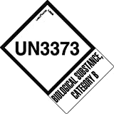 Labelmaster L380B UN3373 Label, with Tab, 2'' x 2 3/4'' (Pack of 500)