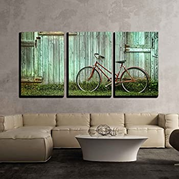 Amazon.com: SmartWallArt - Vehicle Paintings Wall Art Old Bicycle ...