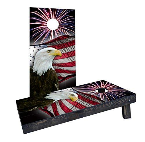 限定価格セール! Custom With Cornhole Boards Custom Cornhole CCB1735-2x4-AW American Bald Eagle With Fireworks Cornhole Boards [並行輸入品] B07HLFMR74, タックオンライン:78aa077e --- arianechie.dominiotemporario.com