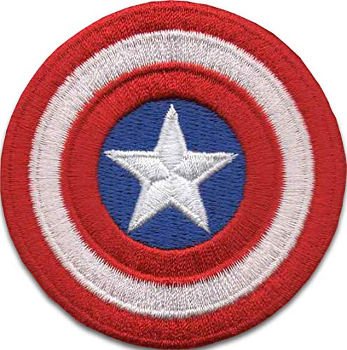 (Iron On Patches - Captain America Iron On Patch Embroidered Applique The First Avenger Shield Marvel Superhero)