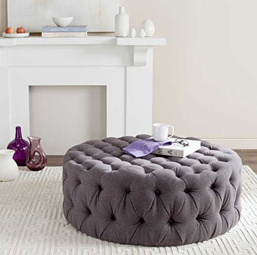 Safavieh Mercer Collection Charlene Ottoman, Grey