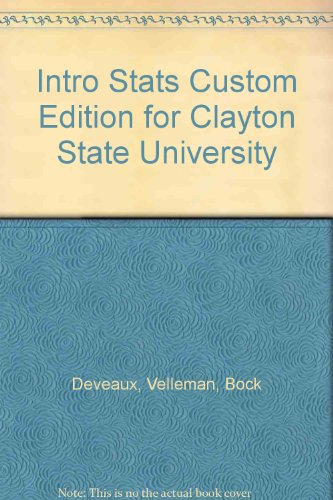 Intro Stats Custom Edition for Clayton State University