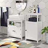 Homfa Bathroom Floor Cabinet Free Standing with