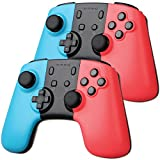 EEEKit 2-pack Wireless Pro Gaming Controller Joypad Gamepad Remote for Nintendo Switch Console