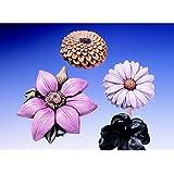 Gießform Sommerblumen 4 Blumen Gr.8-13 cm