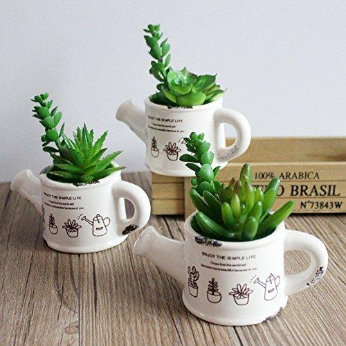Khalee Mixed Artificial Succulent Plants Fake Succulents, (12 Different PCS, Random)