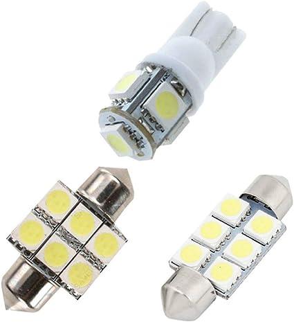 Pour MINI LED Lampe Ampoules Blanc Wedge Int/érieur De Voiture Lumi/ère D/ôme Feux De Plaque Dimmatriculation Canbus Anti Erreur 12V Pas De Polarit/é Con/çu 13 Pi/èce