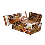 Quest Nutrition Protein Bar, Cinnamon Roll, 20g Protein, 4g Net Carbs, Low Carb, Gluten Free, Soy Free, 2.12oz Bar, 12 Count, Packaging May Vary