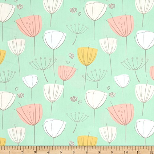 Floral Frolic Apricot Fabric By The Yard (Cotton Fabric Art)