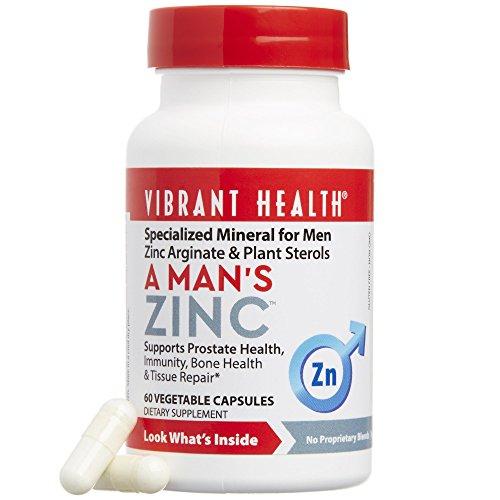 Vibrant Health – A Mans Zinc – 60 count For Sale