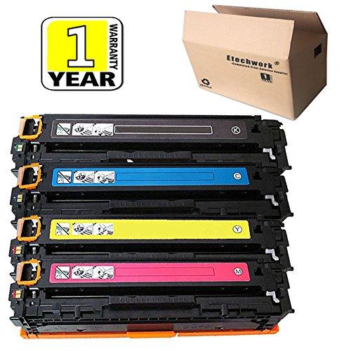 Etechwork CE410A CE411A CE412A CE413A Toner Cartridge Full set of Black& Cyan& Yellow& Magenta, Compatible for 305A Toner LaserJet Pro 400 Color M451DN M451DW MFP M451NW M475DN M475DW (4 Pack)