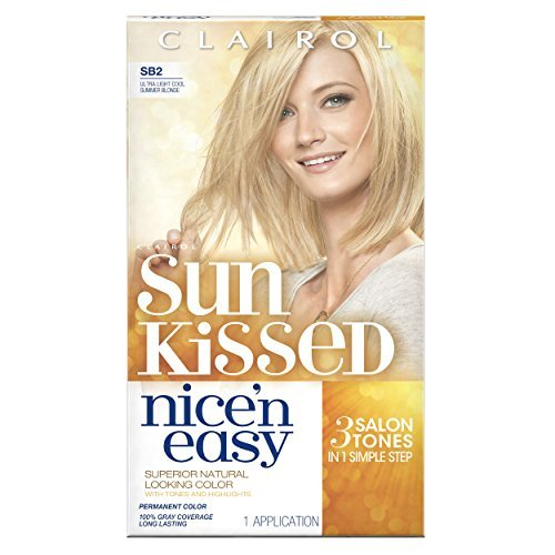 Cheap Clairol Nice 'N Easy Hair Color SB2 Ultra Light Cool Summer Blonde Kit, 1 Count by Clairol for sale